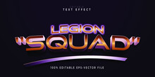 Legion Squad  Text Effect In Gold