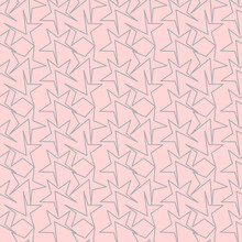 Vector Seamless Pink Abstraction Geometrical Pattern. Background Illustration, Decorative Design For Fabric Or Paper. Ornament Modern