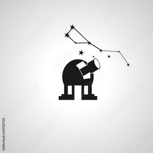 Billede på lærred Observatory Telescope vector isolated icon