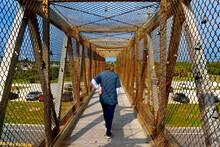 Love Locks At Walking Bridge Symbol Of Couples Eternal Love.