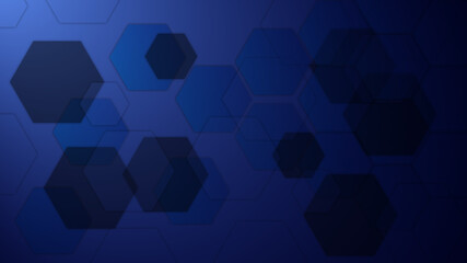 Abstract blue hexagon Background