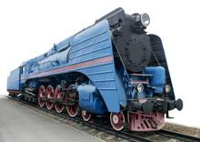The Blue Express Steam Locomotive
