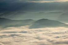 Beautiful Landscape In The Morning With Fog At Doi Samer Dao, Sri Nan National Park