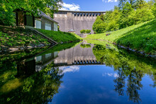 Dam Of The Aggertalsperre, A Storage Reservoir Near Gummersbach, Germany
