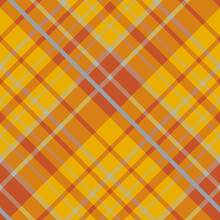 Seamless Pattern In Yellow, Orange And Grey Colors For Plaid, Fabric, Textile, Clothes, Tablecloth And Other Things. Vector Image. 2