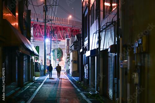 Canvas Print 若松 夜の街角(福岡県北九州市)