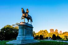 Boston, Massachusetts.,USA, Boston Common George Washington Monument At Massachusetts ,USA