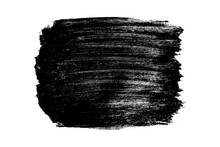 Black Brush Strokes Isolated On White. Ink Splatter. Paint Droplets. Digitally Generated Image. Vector Design Elements, Illustration, EPS 10.