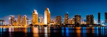 San Diego, California - USA , San Diego Skyline At Night , San Diego, California, USA