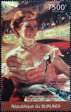 Woman Painted By Mary Cassatt On Postage Stamp