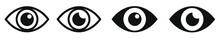 Eye Icons Symbol Vector Illustration Flat Design Style
