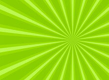 Sunlight Abstract Background. Green Color Burst Background. Vector Illustration. Sun Beam Ray Sunburst