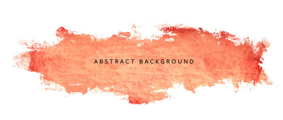 Abstract vector grunge background on white background, isolated object with orange accent, painted wall with brush stroke, splash, dirty texture