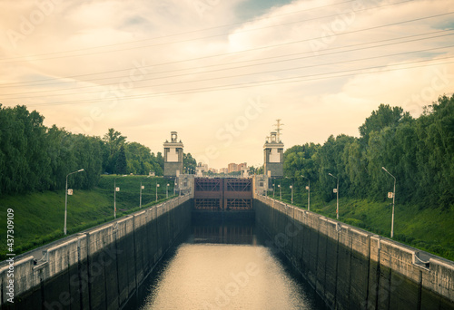 Fotografia the Moscow Canal (the Moskva-Volga Canal) the longest and importantly russian wa