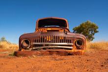Rusty Car In Outback Australia
