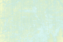 Colorful Grunge Concrete Wall Painting Background, Gradient Of Green, Light Blue And Yellow
