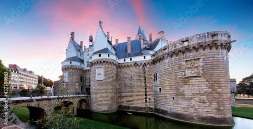 Canvastavla France - Nanste, Castle of the Dukes of Brittany or Chateau des ducs de Bretagne