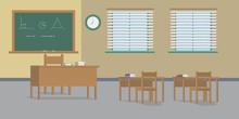 Illustration Of A School Math Class