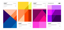 Colorful Abstract Geometric Bauhaus And Ethnic Poster Design Template