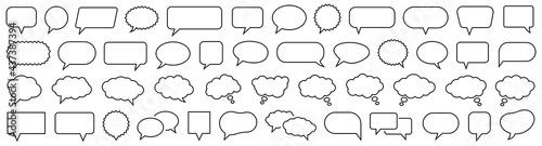Speech Bubble set. Talk bubble. Cloud speech bubbles collection. Vector