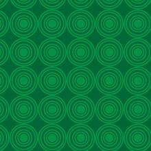 Seamless Green Spiral Pattern Background