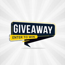 Giveaway And Enter To Win Banner Sign Design Template