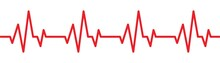 Red Heartbeat Line Icon. Vector Illustration