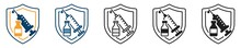 Vaccine Icon Set, Vaccine Icon In Different Style, Vector Illustration