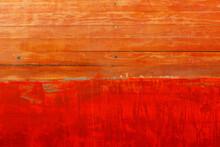 Board Of A Wooden Yacht Made Of Mahogany