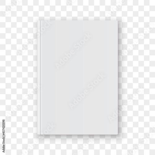 Obraz na plátně Book cover blank white vertical design template