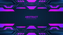 Modern Abstract Background Design Futuristic Purple And Black Gaming Banner Design Template Vector