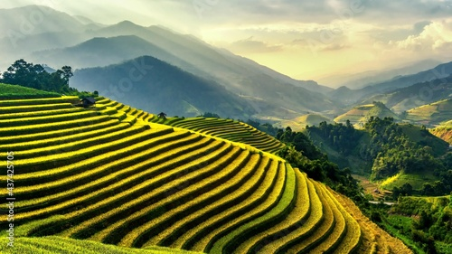 Photo Landscape view of mountain