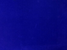 Blue Velvet Fabric Texture Used As Background. Empty Blue Fabric Background Of Soft And Smooth Textile Material. There Is Space For Text.