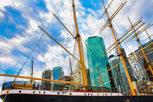 Financial District, New York, As Seen From South Street Seaport