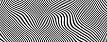 Black And White Wave Background For Business Presentation . Abstract Elegant Seamless Pattern.