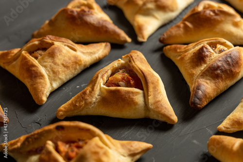 Obraz na płótnie Homemade Fatayers. Empanadas Arabes