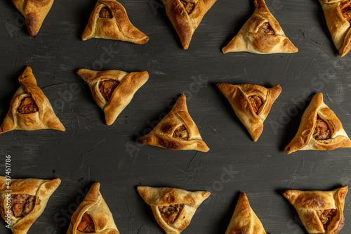 Homemade Fatayers. Empanadas Arabes Fototapeta
