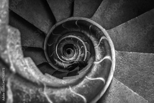 Stampa su Tela Spiral staircase