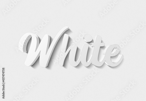 White Text Effect with Metal 3D Style Mockup