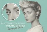 Risograph Matchbook Print Photo Effect Mockup