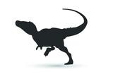Fototapeta Dinusie - Vector tyrannosaurus rex silhouette. dinosaur isolated on white background.