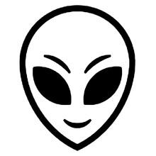 Alien Head Icon. Extraterrestrial Creature Head Illustration.