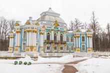 Russia Pushkin 15 November 2020 Ekaterininsky Park, The Hermitage Pavilion In Tsarskoe Selo