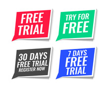 Free Trial Stickers Pack Of Four