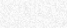 Halftone Abstract Background. Monochrome Point Texture. A Linear Pattern Of Small Dots. Design Of A Banner, A Poster For A Website, A Frame For Social Networks. Vector Illustration.