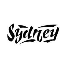 Sydney Designed Logo, The Digital Handwritten Title For Postcards, Banners, Posters, Pictures, Calendars, Ads, Packaging Products, Travel Postcards, Brochures.