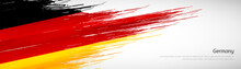 Abstract Happy German Unity Day Of Germany With Creative Watercolor National Brush Flag Background