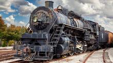 Old Steam Locomotive Train Engine