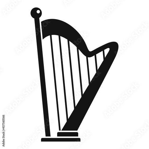 Canvastavla Harp icon, simple style
