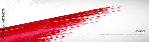 Abstract happy independence day of Poland with creative watercolor national brush flag background
